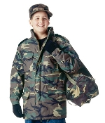 M-65 Kids Woodland Camo Field Jacket