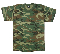T-SHIRT - WOODLAND CAMOUFLAGE T-SHIRT MADE IN THE U.S.A.