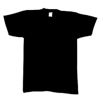 BLACK T-SHIRT MADE IN THE U.S.A.