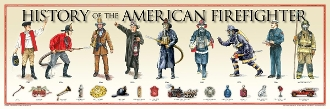 Poster - History of the American Firefighter Poster