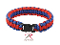 Paracord Bracelet - Red and Blue with Buckle