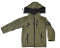 Kids - Embroidered USMC OD Green Softshell Jacket w/flag patch